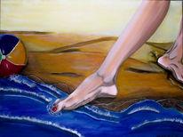 Natur, Welle, Bein, Sand