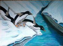 Pinguin, Weiß, Eis, Eisberg