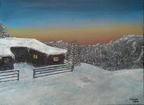 Malerei, Acryl 2014, Weihnachten,