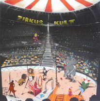 Löwe, Dompteur, Publikum, Zirkus