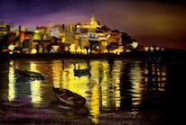 Algarve, Portugal, Nacht, Malerei