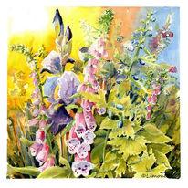 Rittersporn, Pleinair, Akelei, Blumen