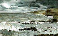 Insel, Meer, Teneriffa, Aquarell