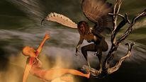 Prometheus, Harpyie, Digitale kunst, Mythologie