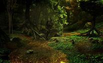 Wald, Digitale kunst, Tief