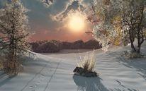 Winter, Geschenk, Digitale kunst