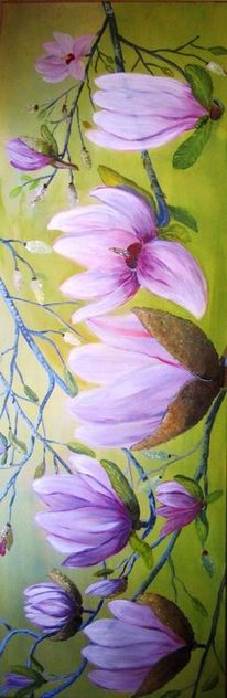Baum, Magnolien, Blumen, Frühling