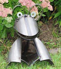 Frosch, Metall, Garten, Kunsthandwerk