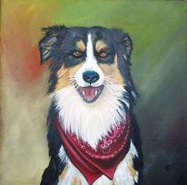 Hundekopf, Ölmalerei, Hund, Tiere