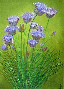 Garten, Lila, Blau, Ernte