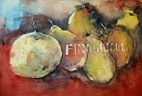 Obst, Aquarellmalerei, Stillleben, Malerei