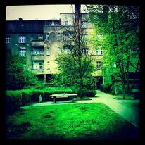 Fotografie, Haus, Berlin, Hinterhof
