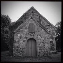 Kirche, Fernweh, Kapelle, Schwarzweiß