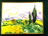 Frankreich, Gogh, Ölmalerei, Landschaft
