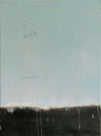 Schwarz, Hellblau, Malerei,