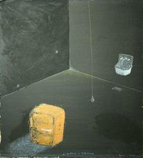 Malerei, Abstrakt, Gips