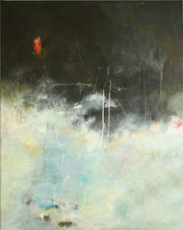 Malerei, Abstrakt, Wächter, Mischtechnik
