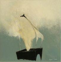 Malerei, Abstrakt, Kopf, Giraffe