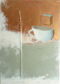 Malerei, Abstrakt, Tasse