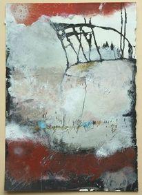 Malerei, Abstrakt, Karton