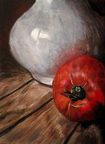 Tomate, Holz, Realismus, Vase