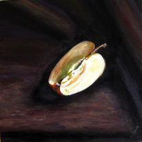 Früchte, Realismus, Apfel, Stillleben