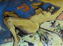Pose, Aquarellmalerei, Akt, Erotik