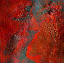 Digital, Gemälde, Rot, Aquarellmalerei