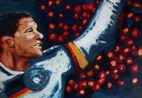 Fußball, Sieger, Portrait, Show