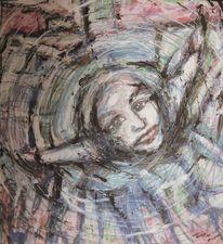 Freude, Glücklich, Portrait, Malen