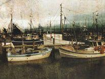 Promenade, See, Stimmung, Hafen