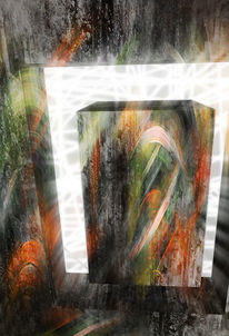 Digital, Spaltung, Fenster, Stein