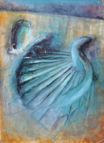 Ölmalerei, Fantasie, Blau, Malerei
