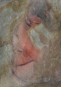 Aquarellmalerei, Akt, Textur, Grayisch