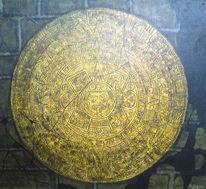 Kalender, Gelb, Braun, Malerei