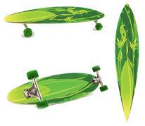 Longboard, Skateboard, Frisch, Rolle