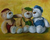 Grün, Bär, Fell, Teddy