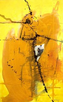 Malerei, Abstrakt, Tunnel, Glück