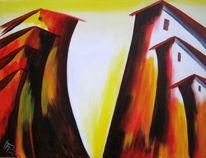 Vorhang, Acrylmalerei, Rotthalmünster, Dolomiten