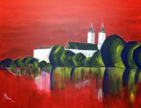 Wasserburg, Expressionismus, Schatten, Inn