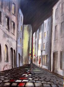 Schatten, Gasse, Altstadt, Straße