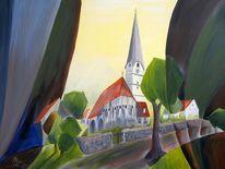 Mittich, Kirche, Acrylmalerei, Neuhaus