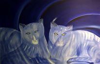 Expressionismus, Katze, Kubismus, Schatten