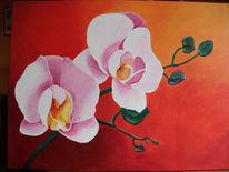 Orchidee, Malerei, Stillleben