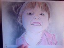 Buntstiftzeichnung, Zeichnen, Portrait, Kind