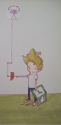 Kinder, Zeichnung, Weltvernichtungsbutton, Hässlicherteppich