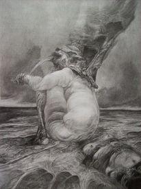 Surreal zeichnung dämonen, Zeichnungen