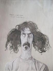 Zeichnung, Acrylmalerei, Zappa, Surreal