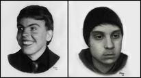 Bruder, Geschwister, Portrait, Zeichnungen