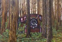 Wald, Anschluss, Grün, Telefon